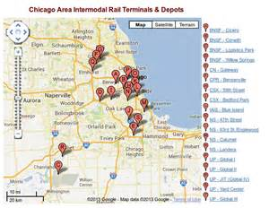 Chicago Truck Routes Map by Chicago Intermodal Compass