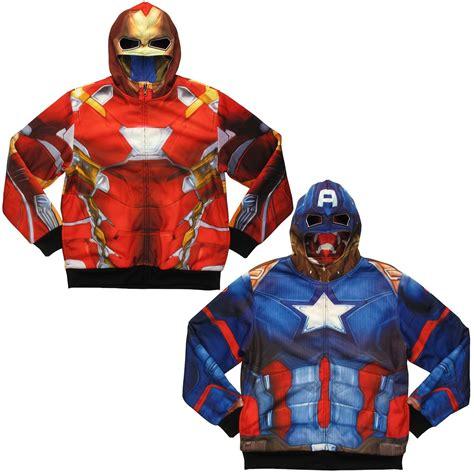 Hoodie Ironman 1 marvel captain america iron reversible hoodie