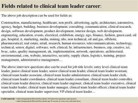 top 10 clinical team leader questions and answers