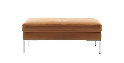 Ottomans Light Brown Salvador Leather Ottoman Sofa Sofa Light Brown Leather Ottoman