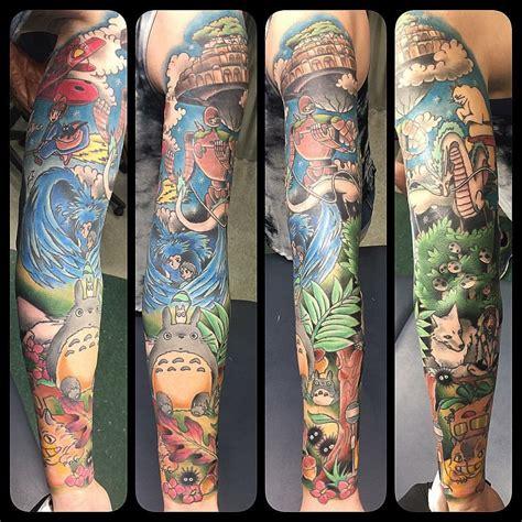 studio ghibli tattoos studio ghibli sleeves