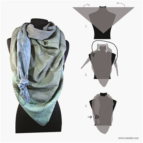 how to wear large scarf rannka