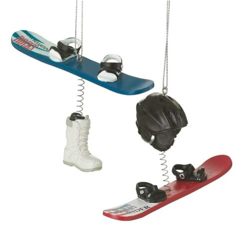 snowboard dangle christmas ornament set of 2 midwest cbk