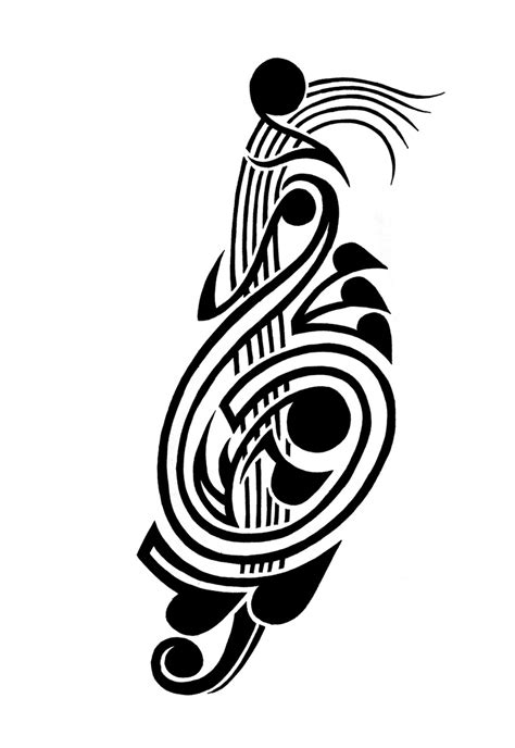 tribal tattoo music 17 best ideas images on tatoo