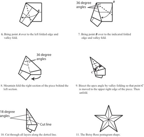 How To Make A 5 Point Out Of Paper - two conundrums concerning the betsy ross five pointed