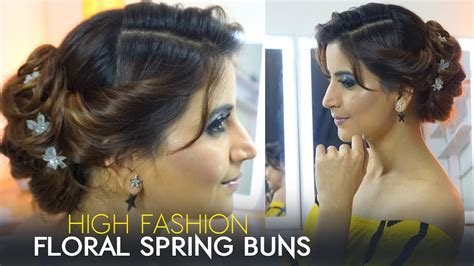 picsy hair floral spring bun decent beautiful party hair style
