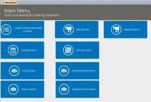 microsoft access class database template