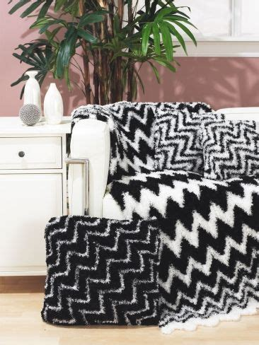 crochet zig zag pillow pattern black n white zig zag throw n pillow free crochet