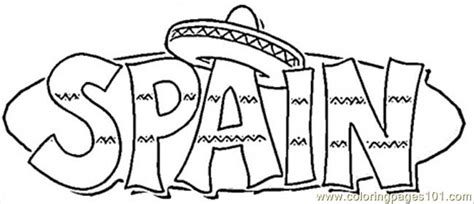 Spain Coloring Page coloring pages spain countries gt spain free printable