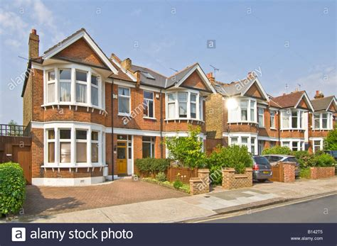 semi detached house or row house a row of typical 3 bed semi detached victorian edwardian