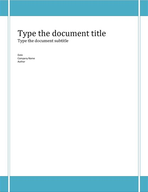 report cover template microsoft word luxury report cover page