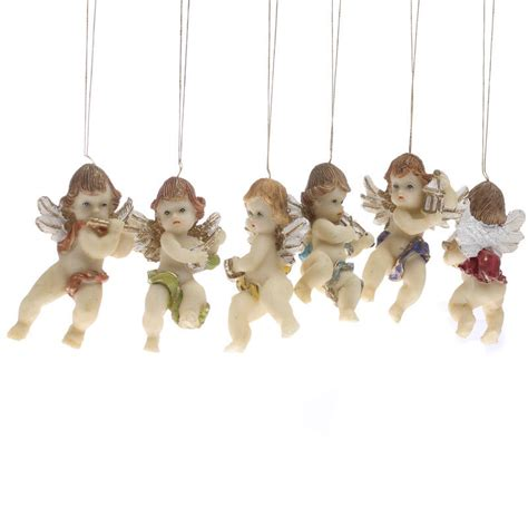 musical cherub angel ornaments christmas miniatures