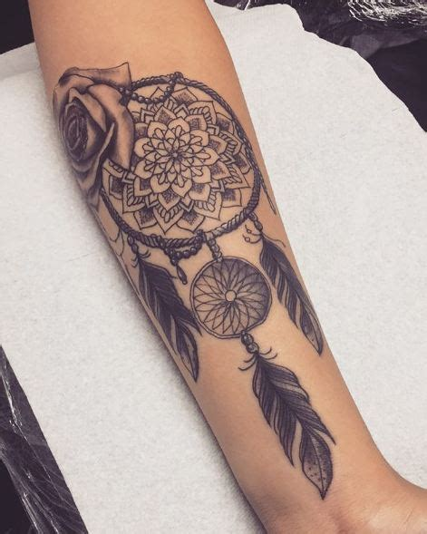 dreamcatcher tattoo add ons 45 dreamcatcher tattoos for men and women 2018 page 4