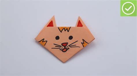 Make My Paper - how to make a cat out of paper 14 steps with pictures