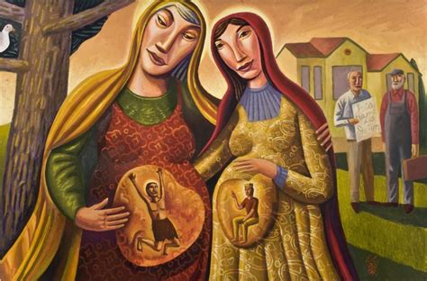 Wedding At Cana Catholic Interpretation by Quot Visitation Quot By Artist Jim Janknegt Teaching