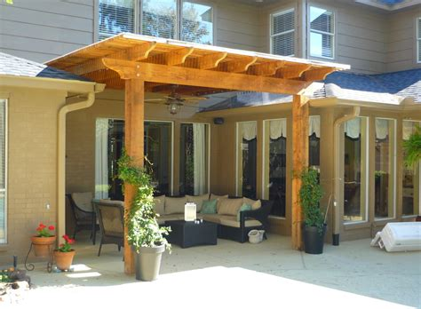 Pergola Roof Ideas Patio Modern With Awning Cedar Concrete Pergola With Roof