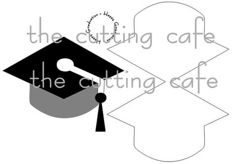 graduation cap invitation kit 5 5 quot x8 5 quot set 24 49664 the cutting cafe grad hat shaped card set template
