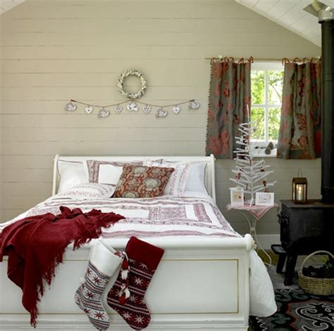 christmas bedrooms inspiring rustic bedroom for christmas decoration