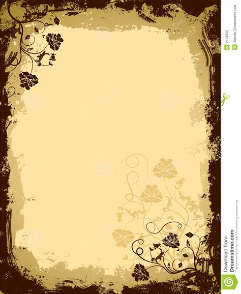 grunge page with floral border stock illustration illustration of fashioned aged 2582659 grunge floral border vector stock vector illustration of dirt border 2146550