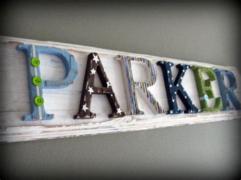 6 letter custom name plaque sign dwell studio outter