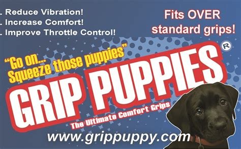 grip puppies grip puppy comfort grips reduce vibration and improve comfort sportouring