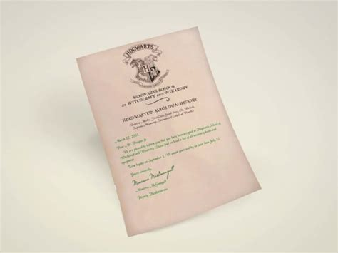 Personalized Hogwarts Acceptance Letter Gift Design Personalized Hogwarts Acceptance Letter By Designs Fx