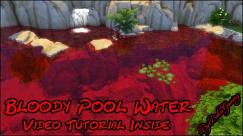 bloody pool water by bakie at mod the sims 187 sims 4 updates