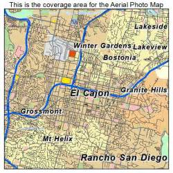 aerial photography map of el cajon ca california