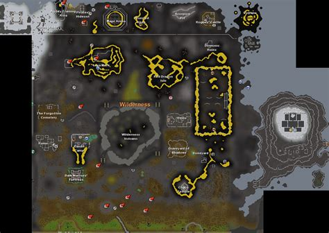 osrs runescape wilderness map image gallery osrs wilderness map
