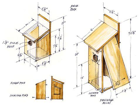 pbalok  ducks unlimited wood duck box plans