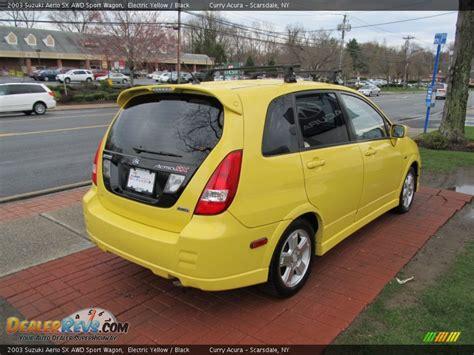 2003 Suzuki Aerio Sx Wagon 2003 Suzuki Aerio Sx Awd Sport Wagon Electric Yellow