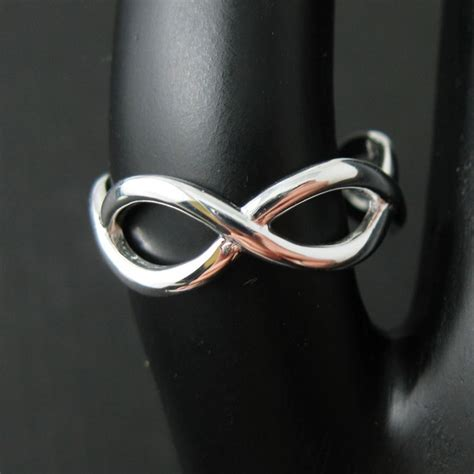 925 sterling silver infinity infinity knot ring