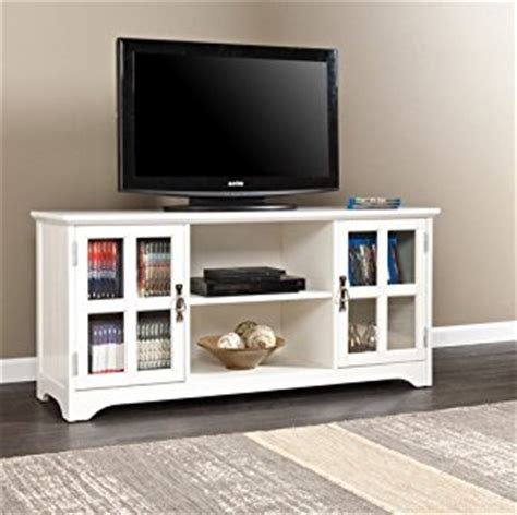 easton white media console 50 inch flat