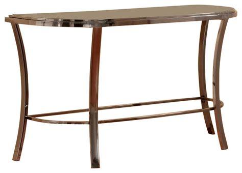 half moon sofa table homelegance willow half moon sofa table with marbled glass