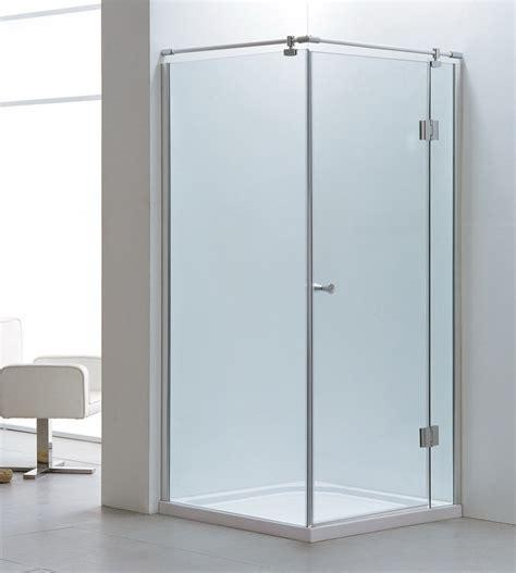 dusch abtrennung echtglas duschkabine duschabtrennung eckeinstieg