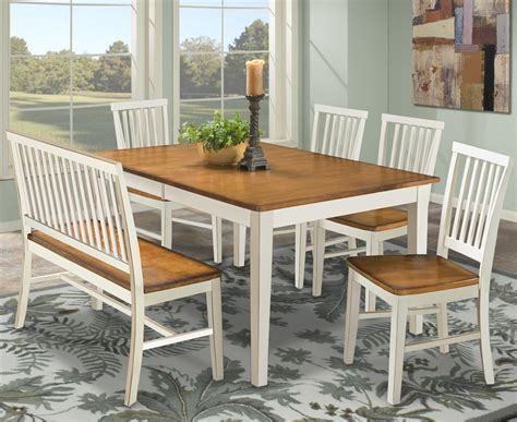 dining tables with benches with backs arlington dining table with slat back bench slat back