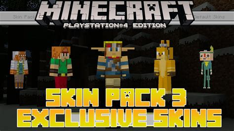 themes ps3 minecraft minecraft ps4 skin pack 3 exclusive skins for playstation