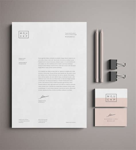 business card branding template 50 free branding identity stationery psd mockups