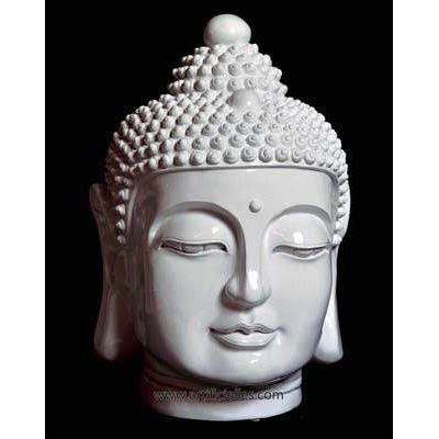 Tete De Bouddha En by Tete De Bouddha Polyresine Blanche Brillante A Achat