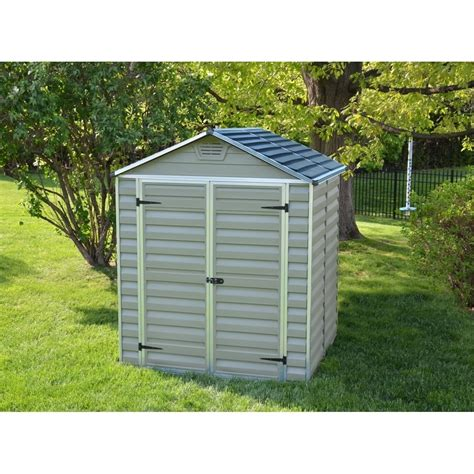 palram plastic shed  green sheds  garden store direct uk