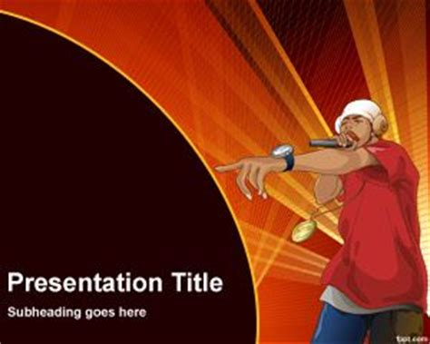 rap template rapper powerpoint template