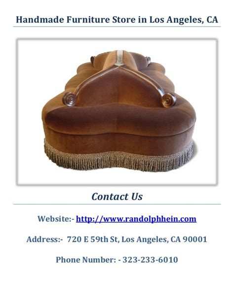 Handmade Furniture Los Angeles - randolph hein handmade furniture store los angeles