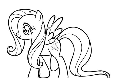fluttershy very happy coloring page aubrey pinterest