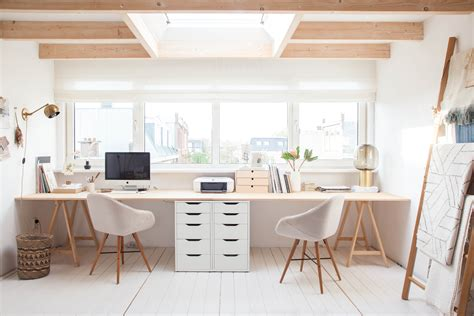 Schreibtisch Für 2 Personen by Six Steps To A Fresh And Functional Home Office