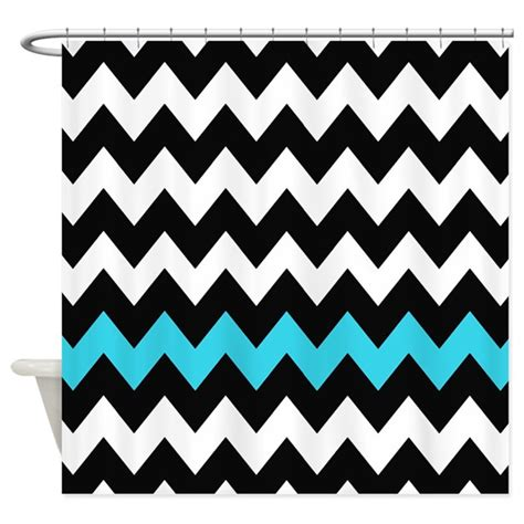 black and blue curtains black and blue chevron shower curtain by chevroncitystripes