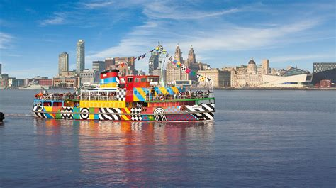 car boat liverpool mersey ferry river explorer cruise day out with the kids