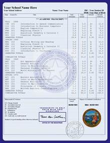 transcript template official transcript template for coll search
