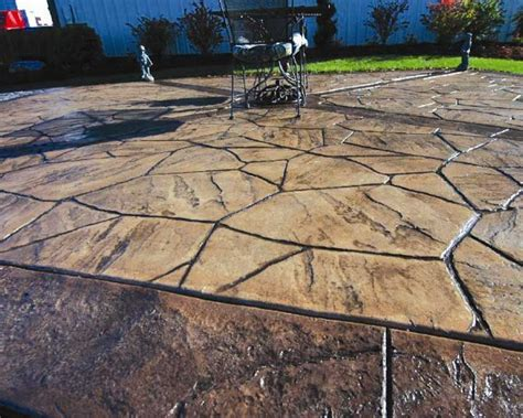 Garage Floor Tile Designs stamped concrete history there are many ways to