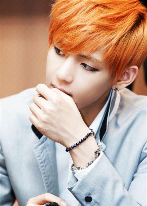 kim taehyung orange hair taehyung orange hair tumblr