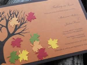 fall wedding shower invitation wording fall invite scrapbook layouts cards ideas